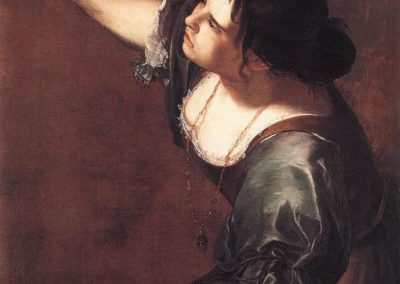 "Artemisia Gentileschi, ""Self-Portrait-as the Allegory of Painting"""