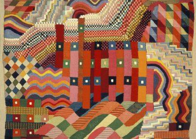 """Gunta-Stölzl, """"Slit Tapestry Red Green"""""""