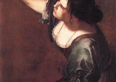 "Artemisia Gentileschi, ""Self-Portrait-as the Allegory of Painting"""